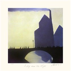 Mackenzie Thorpe 'LONG WAS THE NIGHT' Lithograph