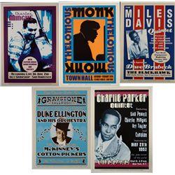 5 Jazz Concert Repro Posters Monk Parker Mingus Davis