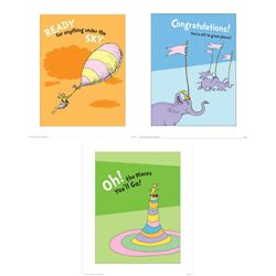 3) Dr Seuss Prints- Oh The Places You Will Go Congrats