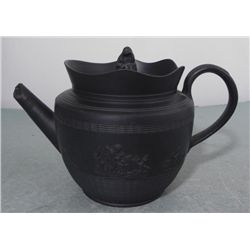 Black Wedgewood Jasperware Teapot -Vintage