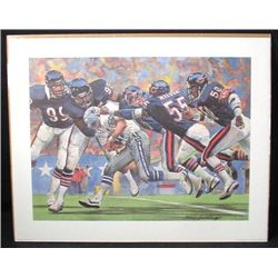 Defense 1985 Bears Champs Corning Art Print Football