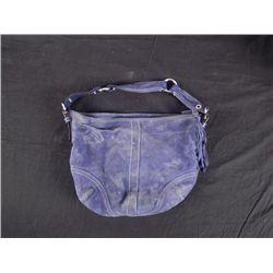 Coach Light Blue Suede Purse Hand Bag
