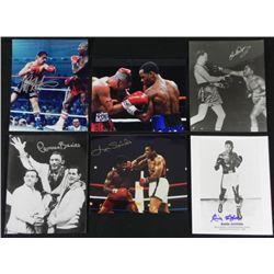 6) Signed Memorabilia Boxing Stars Photos Prints