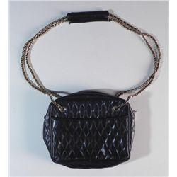 Authentic Black Italian Leather Purse Hand Bag