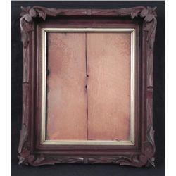 Antique Walnut Hand Carved Victorian Leaf Picture Frame