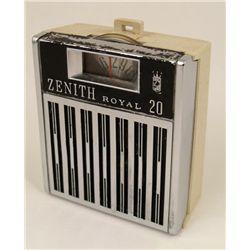 Zenith Royal 20 Vintage 1960s Pocket Transistor Radio