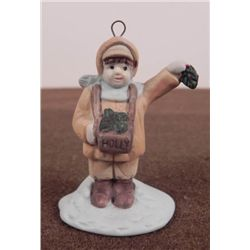 ORIG NAZI PORCELAIN FIGURE OF CHILD SELLING COOKIES-BOT