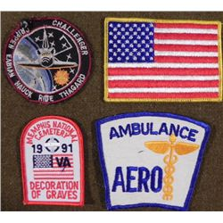 U.S. PATCH GROUPING--INCLUDING CHALLENGER SPACE VOYAGE