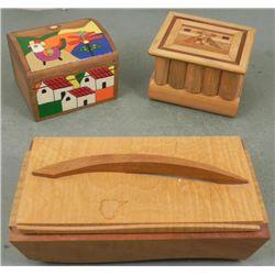 3 Decorative Wood Trinket Boxes: El Salvador to Modern