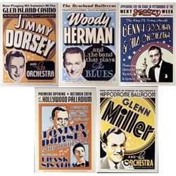 5 Big Band Jazz Concert Repro Posters Dorsey Goodman