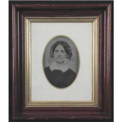 Antique Photo in Walnut Victorian ShadowBox Frame