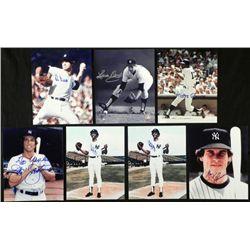 7) 1970's Signed Yankee Photos- Mickey Rivers Rudy May