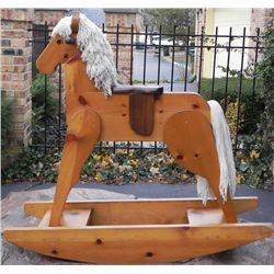 Large Wooden Rocking Horse Adult Size Hand Made
