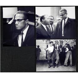 3 Photos Malcom X, Martin Luther King, Jitterbug