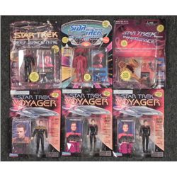 6 Star Trek Action Figures Deep Space, Inner, Next MOC