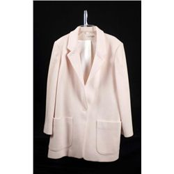 Ann Taylor Ladies Natural/White Wool Coat Size M/L