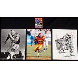 4) Signed Detroit Lions Photos Print Card- Dick Lane