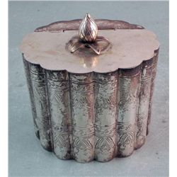 Vintage Silver Plated Indian Lidded Container India