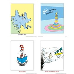 4) Dr Seuss Prints- One Fish Two Fish Cat in the Hat