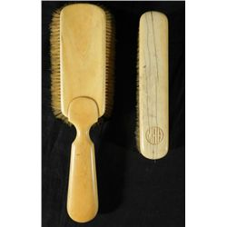 2 Pc Antique Ivory Handle Brush Set for Polishing