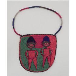 Yoruba Diviner's Bag Beaded Purse w/Male Figures-Africa