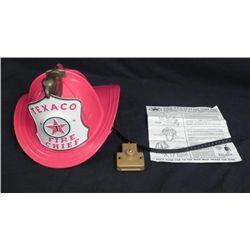 Texaco Fire Chief Helmet Vintage Hat w/Directions 1960s