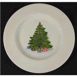 Christmas Tree Foxcroft Hand Painted China Plate