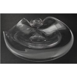Large Clear Free form Art Glass Bowl