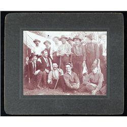 Antique Photograph Men Group Hunting Fishing Portrait