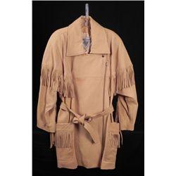 J. Percy Marvin Richards Ladies Leather Fringe Coat -L