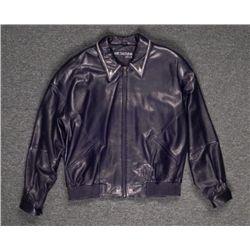 Marc Buchanan Pelle Pelle Black Leather Jacket Studded