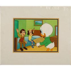 Louie Donald Duck Orig Disney Animation Production Cel