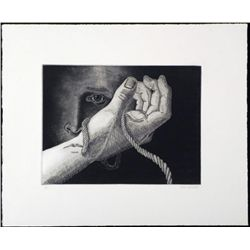 Original Etching Don Weaver Limited Edition Tied Hands