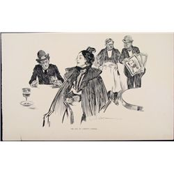 Charles Gibson Girl Orig Book Print 1896 Carnot Funeral