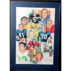 NFL Football Greats Hornung + MORE South Bend Poster
