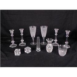 Romatic Dinner Crystal Glasses Vases Candlesticks