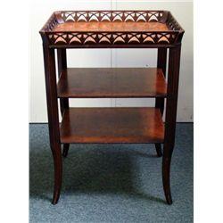 Vintage Wood 3 Tiered Drink or Side Table