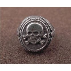 Nazi SS Totenkopf Ring w/ Skull, Eagle, Swastika