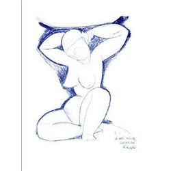 Amedeo Modigliani Art Print Caryatide