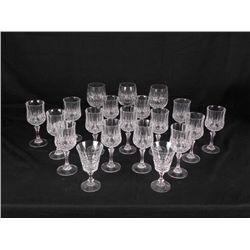 20) Crystal Wine Glasses- Goblets Red Dessert