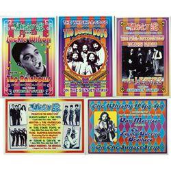 5 Pop & Motown Concert Repro Posters Beach Boys, 4 Tops
