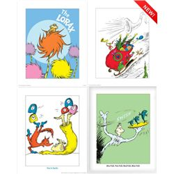 4) Dr Seuss Prints- Grinch Heart Grew 3 Sizes The Lorax