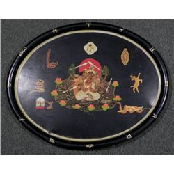 Ney Macminn Hand Painted Zodiac Ceremonial Tray 1953