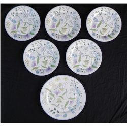 6 Pc Spode England Bone China Afton Y8212 Small Plates