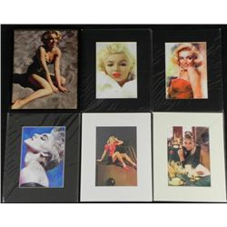 6 Sexy Women Prints Frmd Marilyn Monroe, Madona, Pin-Up