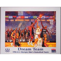 1996 Olympics Bart Forbes DREAM TEAM Basketball Poster