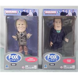 2 Bobbleheads NFL Fox Terry Bradshaw, Howie Long