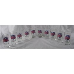 10 Dif Planet Hollywood Original Shot Glasses Boston