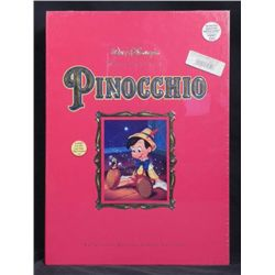 Pinocchio Disney Deluxe Video w/ Art Prints, Book MIB
