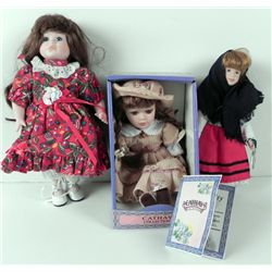 3 Bisque Dolls Cathay in Box, Traditional Irish Gift